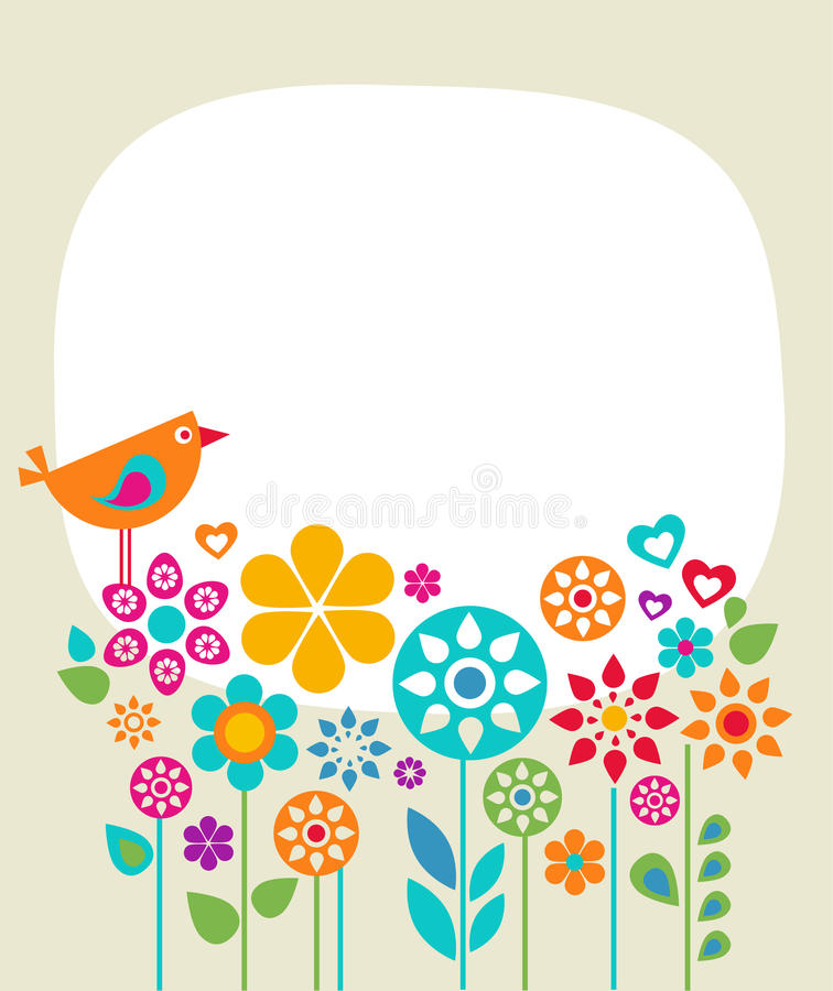Easter Card Template   Stock Illustration Illustration Of