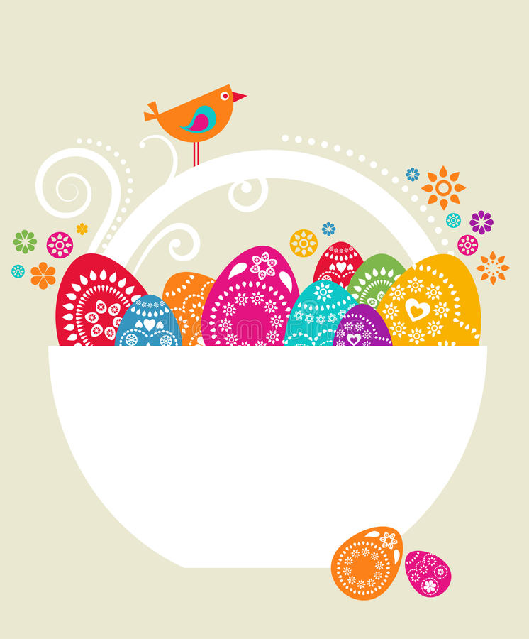 Easter Card Template   Stock Image  Image