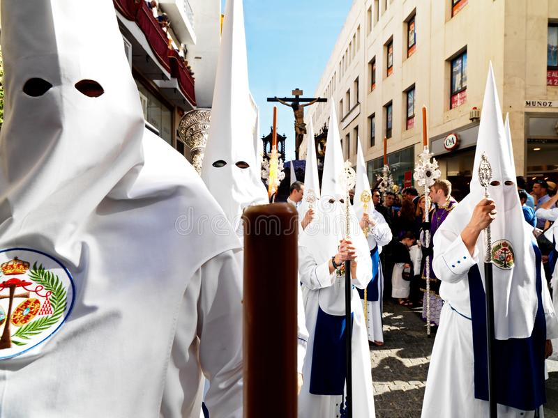 Easter carnival Semana Santa in Sevilla, Spain. April 2, 2015. Easter carnival in Sevilla, Spain. April 2, 2015. Holy Week, Semana Santa, in Andalucia is an royalty free stock images
