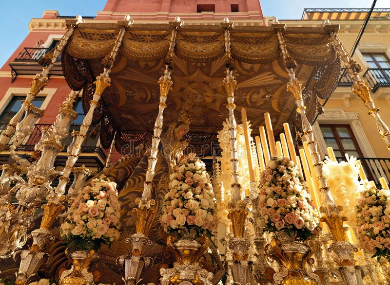 Easter carnival Semana Santa in Sevilla, Spain. April 2, 2015. Easter carnival in Sevilla, Spain. April 2, 2015. Holy Week, Semana Santa, in Andalucia is an stock photos