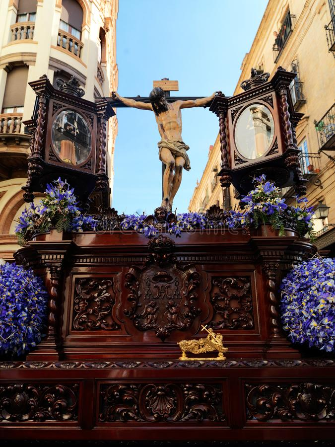 Easter carnival Semana Santa in Sevilla, Spain. April 2, 2015. Easter carnival in Sevilla, Spain. April 2, 2015. Holy Week, Semana Santa, in Andalucia is an stock photo