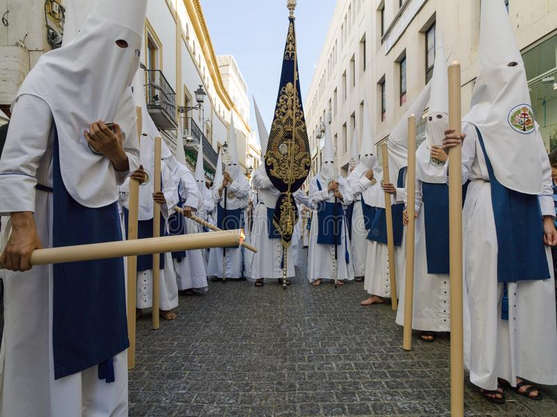 Easter carnival Semana Santa in Sevilla, Spain. April 2, 2015. Easter carnival in Sevilla, Spain. April 2, 2015. Holy Week, Semana Santa, in Andalucia is an stock images