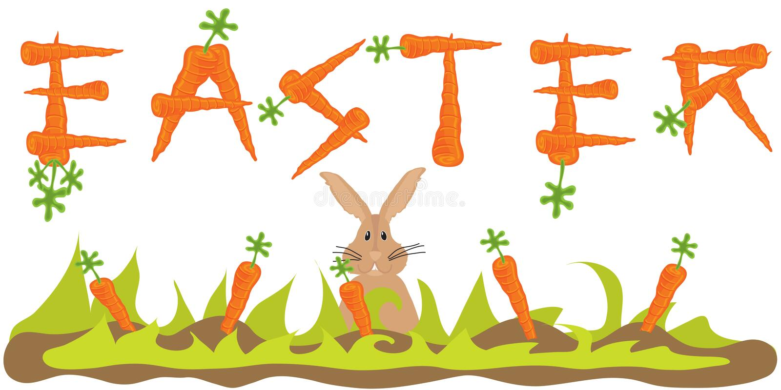 Download Easter Carrot Banner With Easter Bunny Stock Photos - Image: 8321493