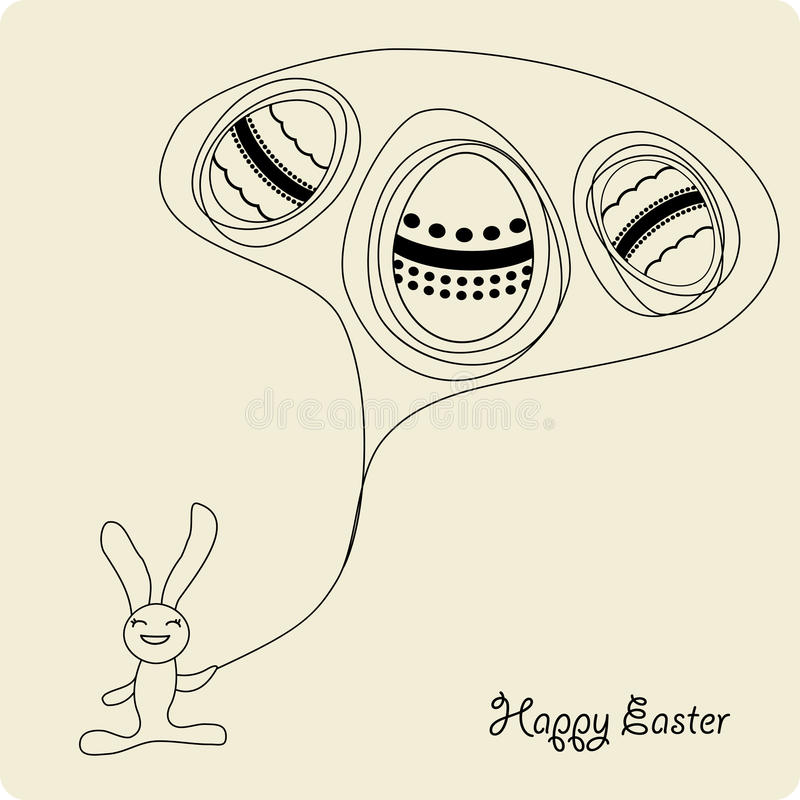 Download Easter Cartoon Bunny With Eggs Stock Vector - Image: 13496874