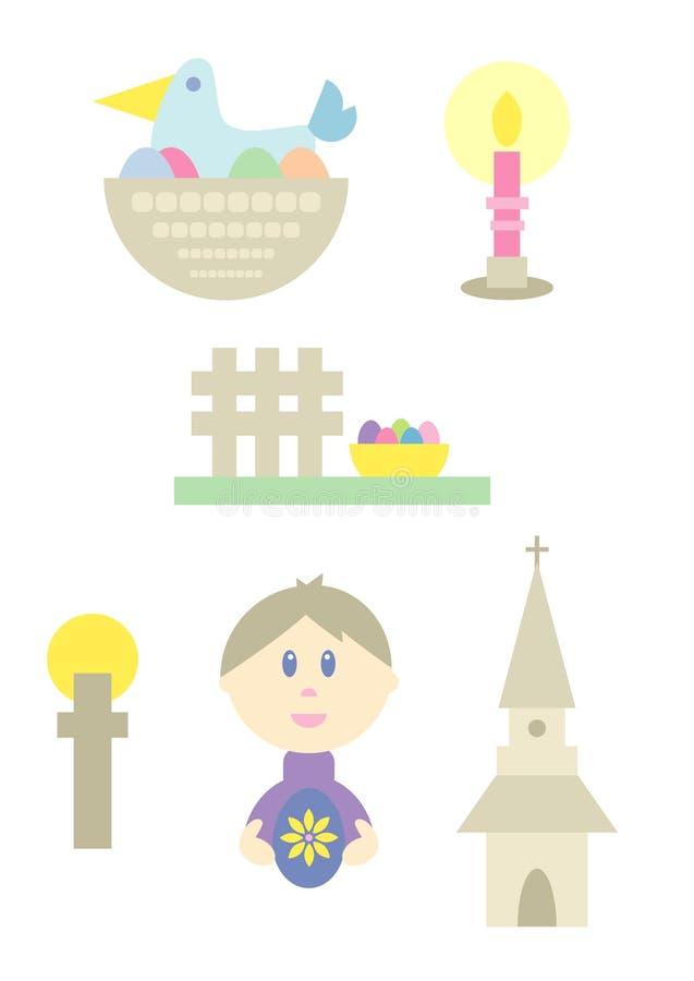 Easter Cartoon Set Royalty Free Stock Photo