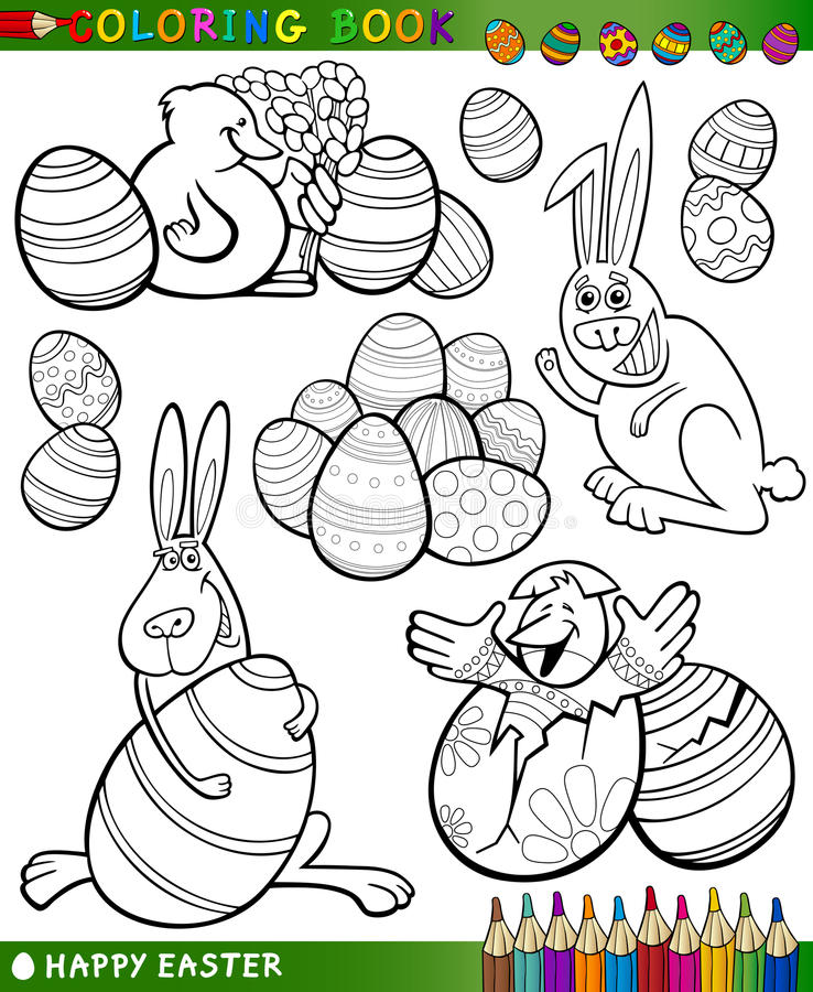 Download Easter Cartoon Themes For Coloring Stock Photography - Image: 28821672