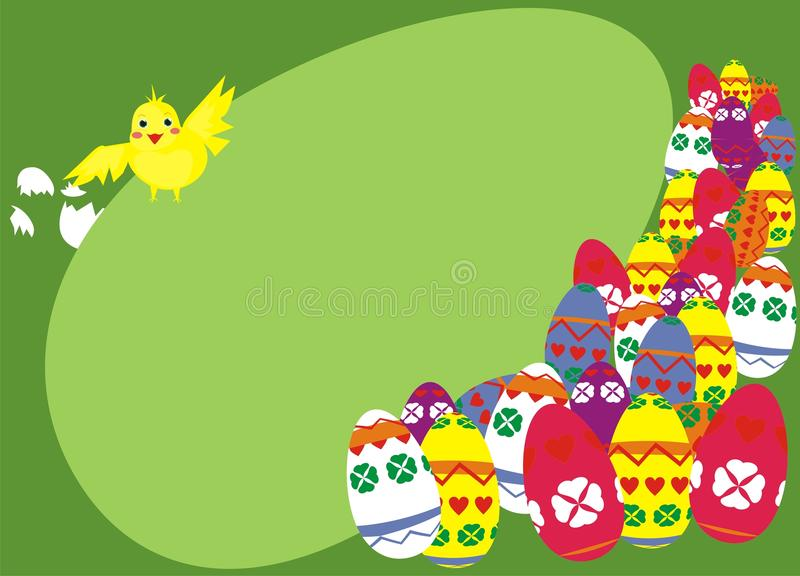 Download Easter chicken composition stock vector. Image of colored - 24220100