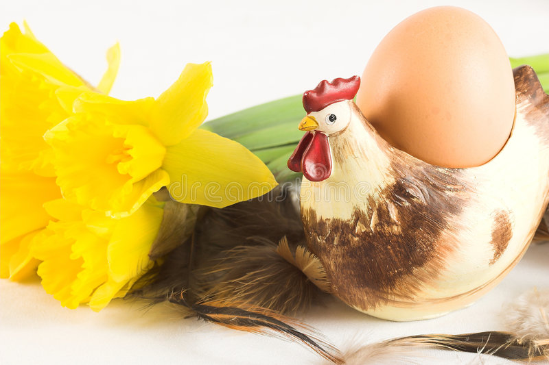 Easter Chicken With Egg Royalty Free Stock Image