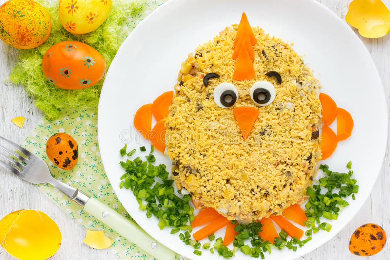 Easter chicken salad for Easter party royalty free stock photos