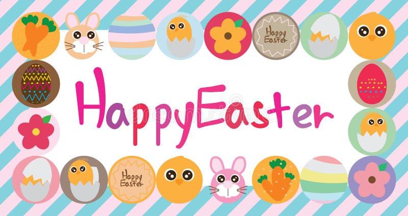 Easter circle food banner royalty free illustration
