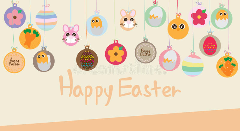 Easter circle food hang stock illustration