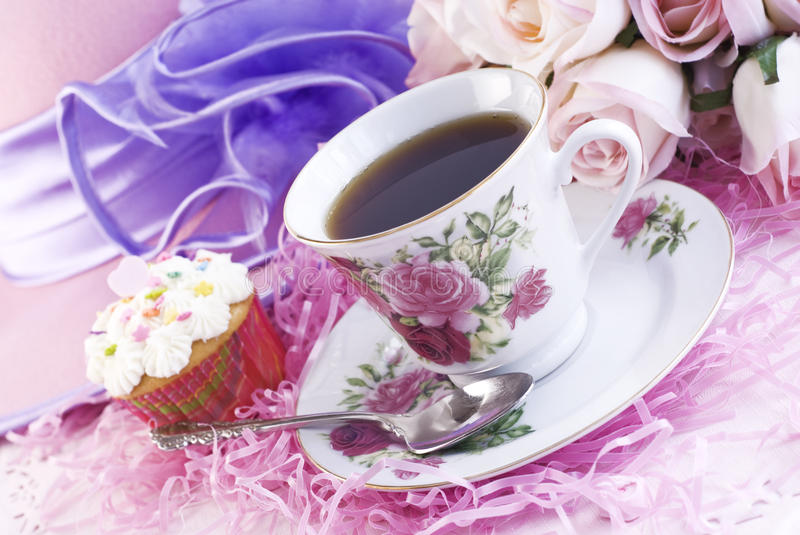Download Easter Coffee with Cupcake stock image. Image of buttercream - 12923283