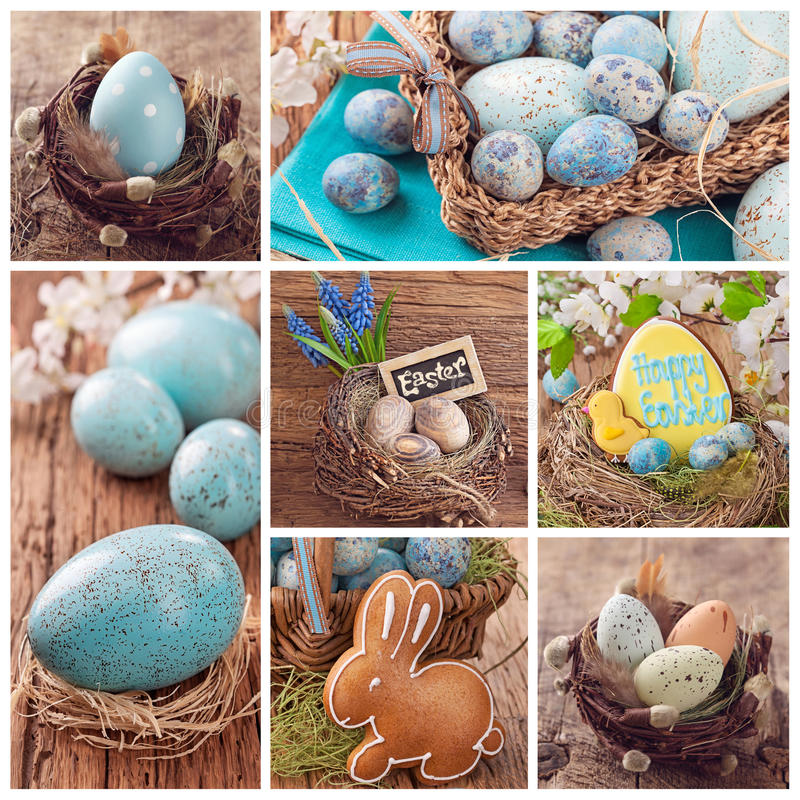 Easter collage stock photography