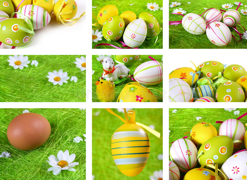 Download Easter collage stock image. Image of painted, design, easter - 4631161