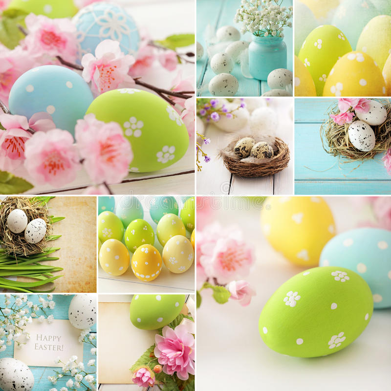 Easter collage royalty free stock images