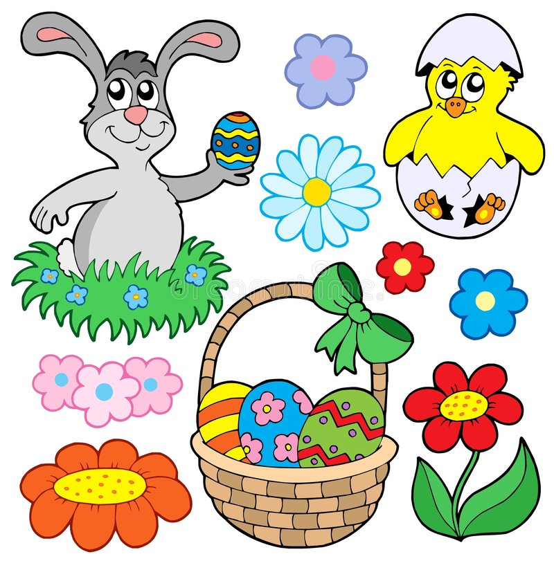 Download Easter collection 01 stock vector. Image of artwork, celebrate - 7913365