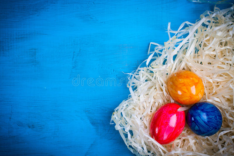 Easter colored eggs. stock images
