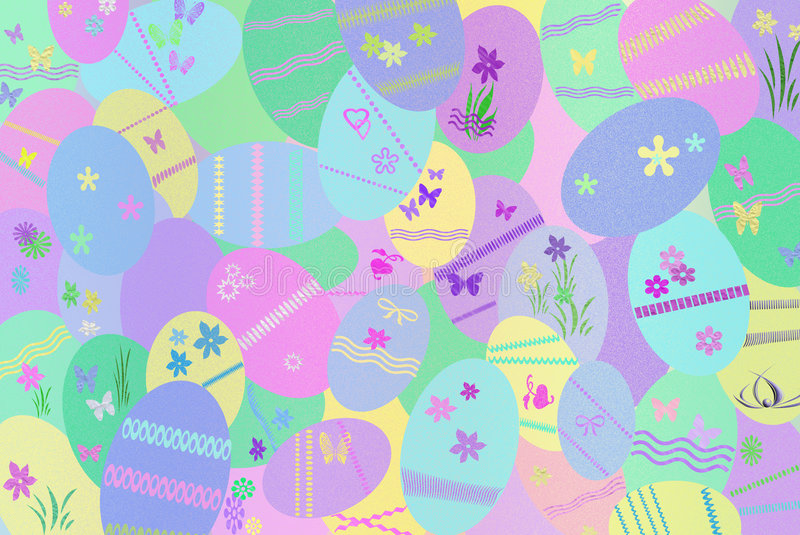 Easter Colors stock illustration