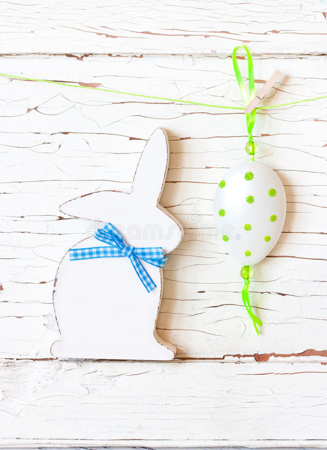 Easter. Easter composition with Easter bunny and egg royalty free stock photos