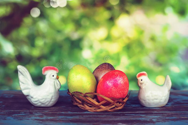 Easter composition. Easter Tradition - Selective focus royalty free stock photography