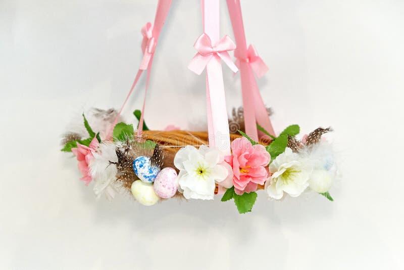 Easter decorative wreath stock image