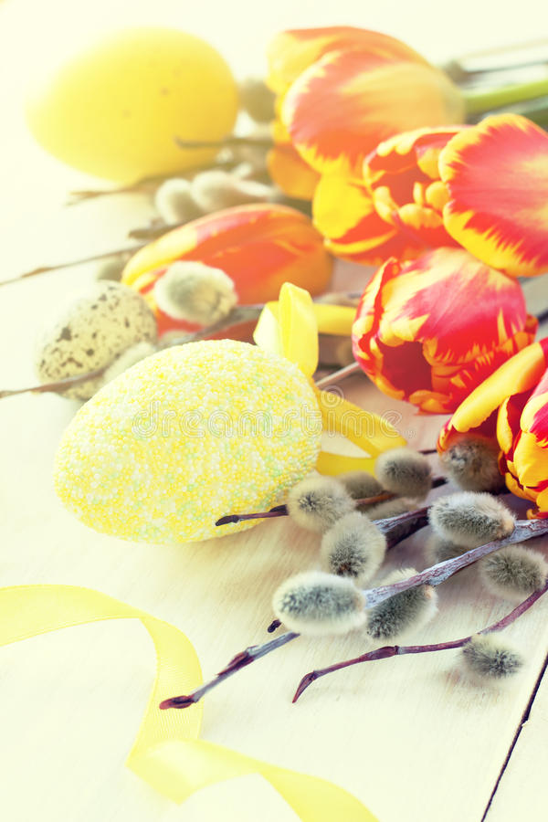Easter composition royalty free stock photography