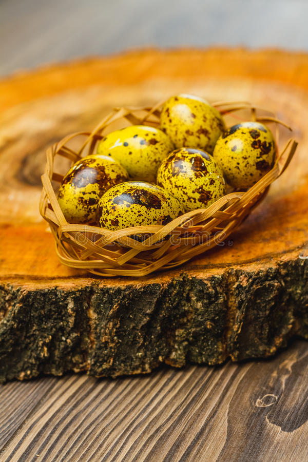 Easter composition on wooden background. Egg royalty free stock images