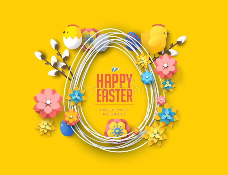 Easter concept banner flyer  colorful eggs rabbit abstract background texture. Easter concept banner flyer colorful eggs rabbit abstract background texture vector illustration
