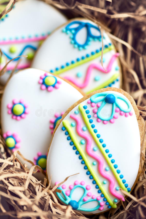 Easter cookies stock photography