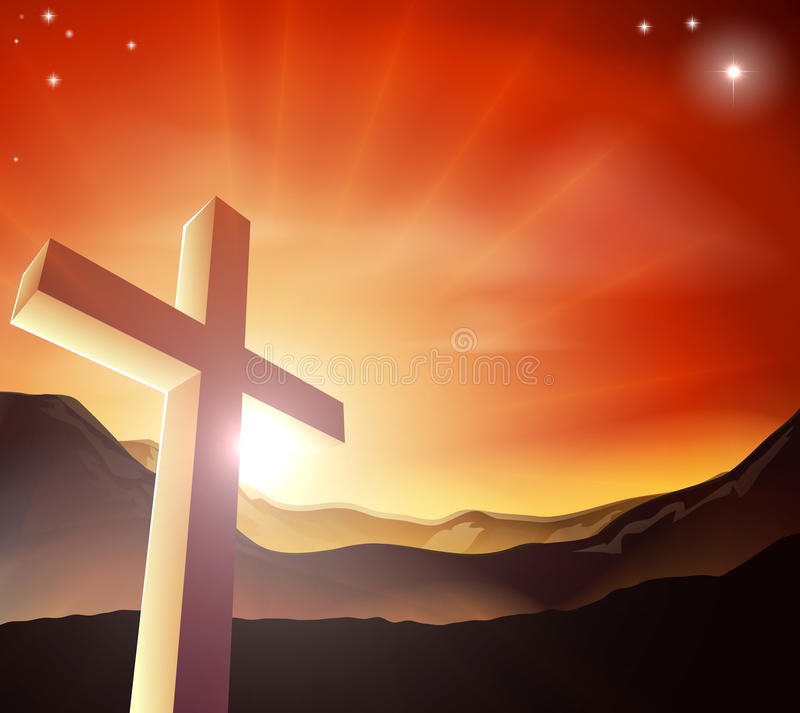 Easter cross concept royalty free illustration