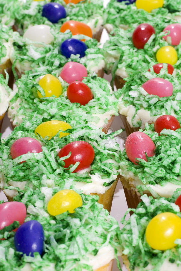 Easter Cupcake Background stock photography