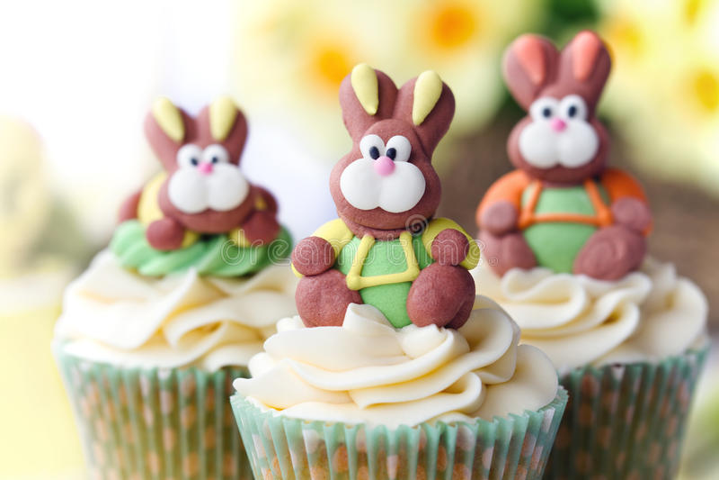 Easter cupcakes stock photos
