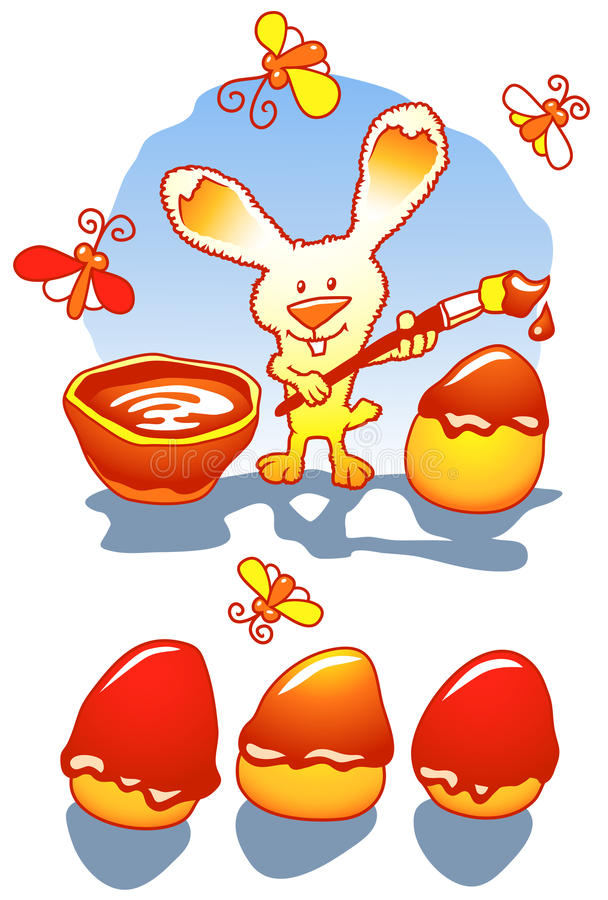 easter czekoladowi jajka ilustracja wektor