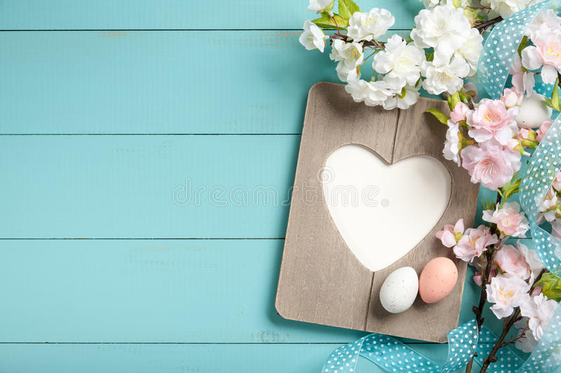 Easter decoration. Background, copy space stock photo
