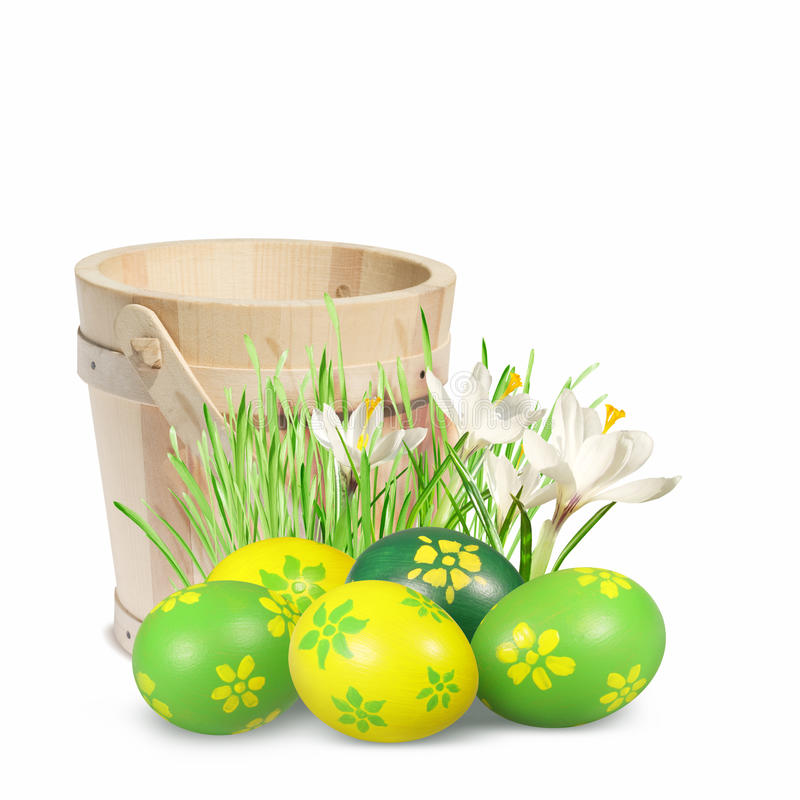 Easter decoration with Easter eggs. stock images