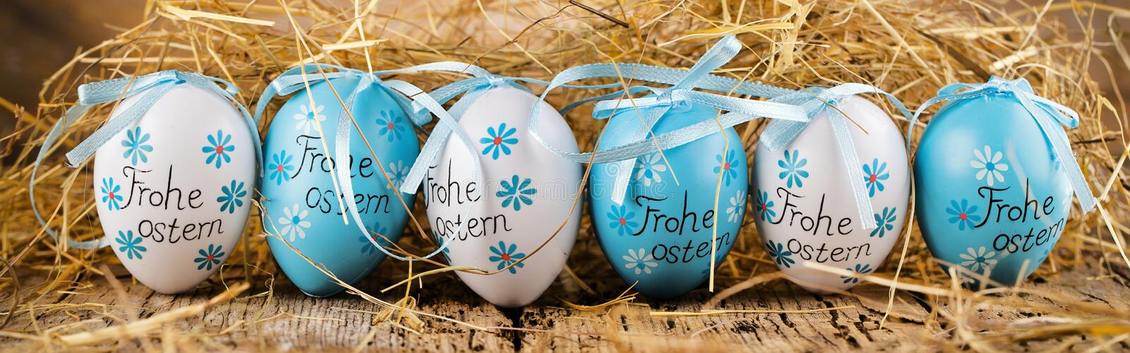 Easter decoration eggs cute bunny. Happy Easter. Vintage style t stock photography