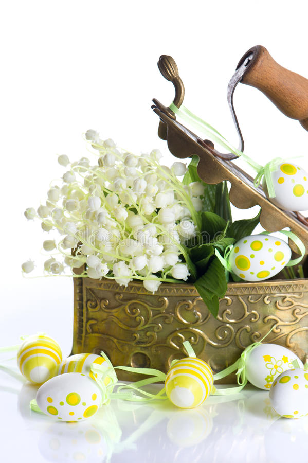 Download Easter Decoration With Eggs And Lily Flowers Stock Image - Image: 22988297