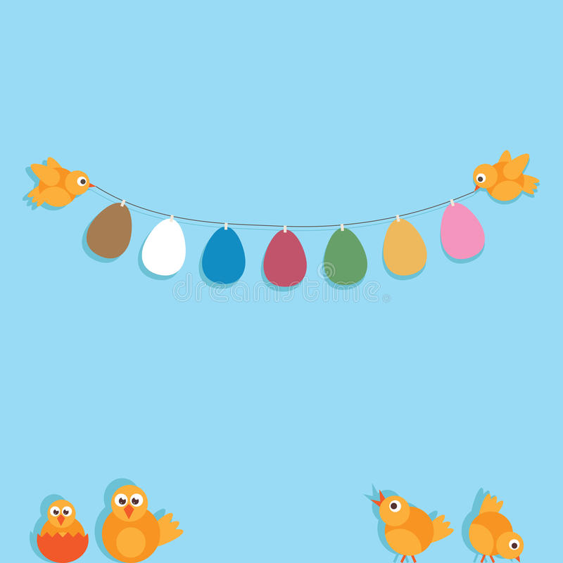 Download Easter decoration stock vector. Image of banner, shadow - 29941636