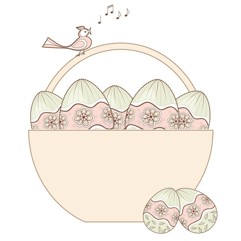 Download Easter design with basket stock vector. Image of paschal - 19057815