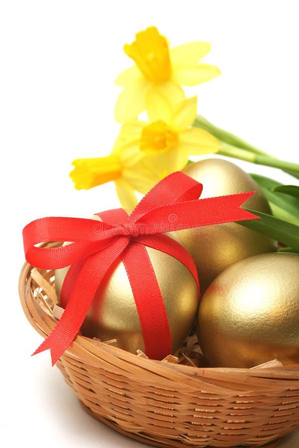 Easter dourado fotos de stock