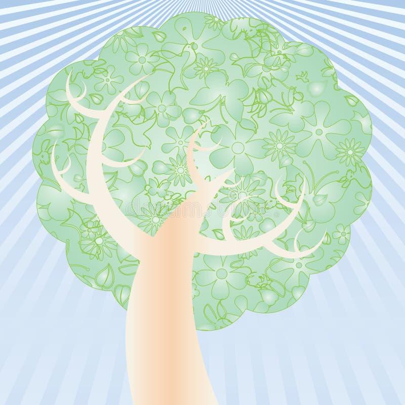 Download Easter drzewo ilustracja wektor. Ilustracja złożonej z zawijas - 13341520