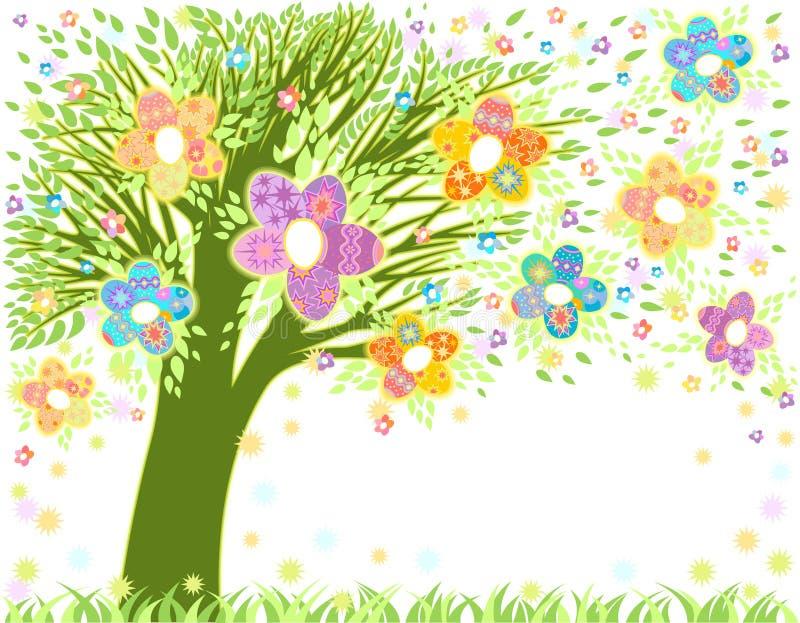 easter drzewo ilustracja wektor