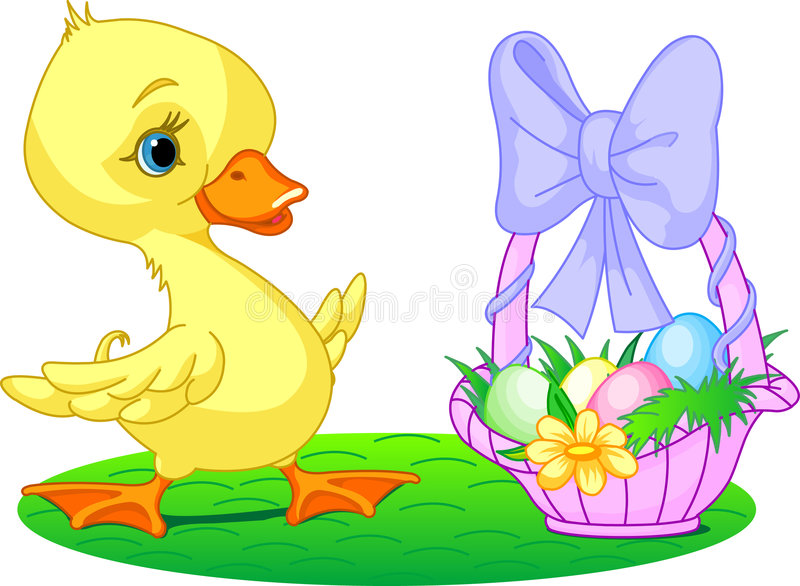 Download Easter duckling stock vector. Illustration of duck, cute - 8320375