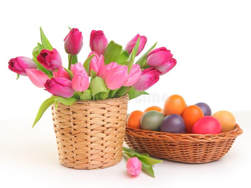 Easter e mola fotografia de stock