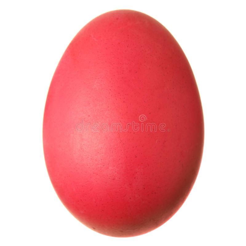Easter egg. Isolated over the white background royalty free stock photo