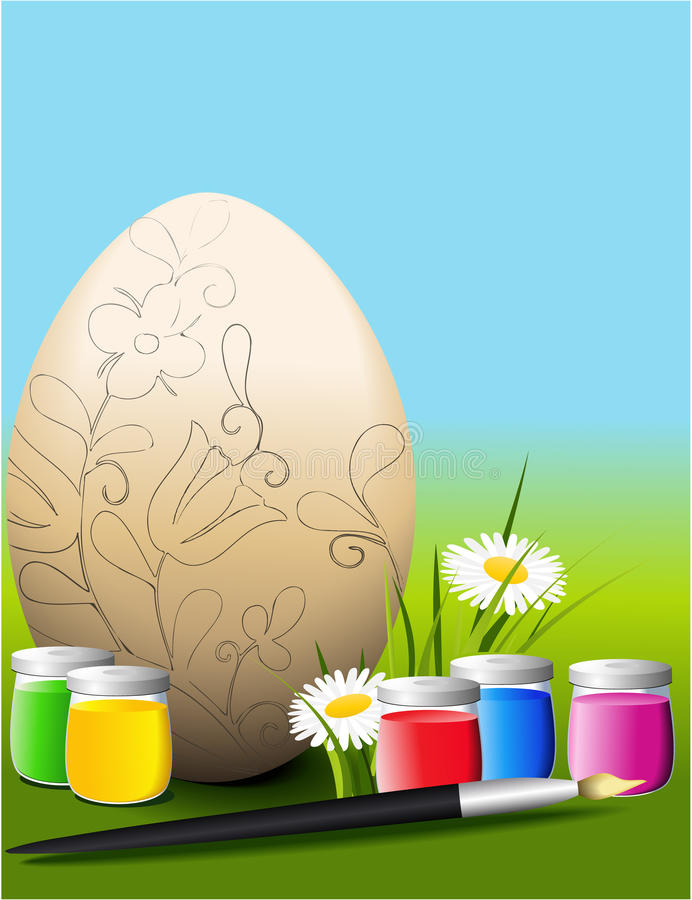 Download Easter egg stock vector. Image of dish, healthy, homemade - 29457009