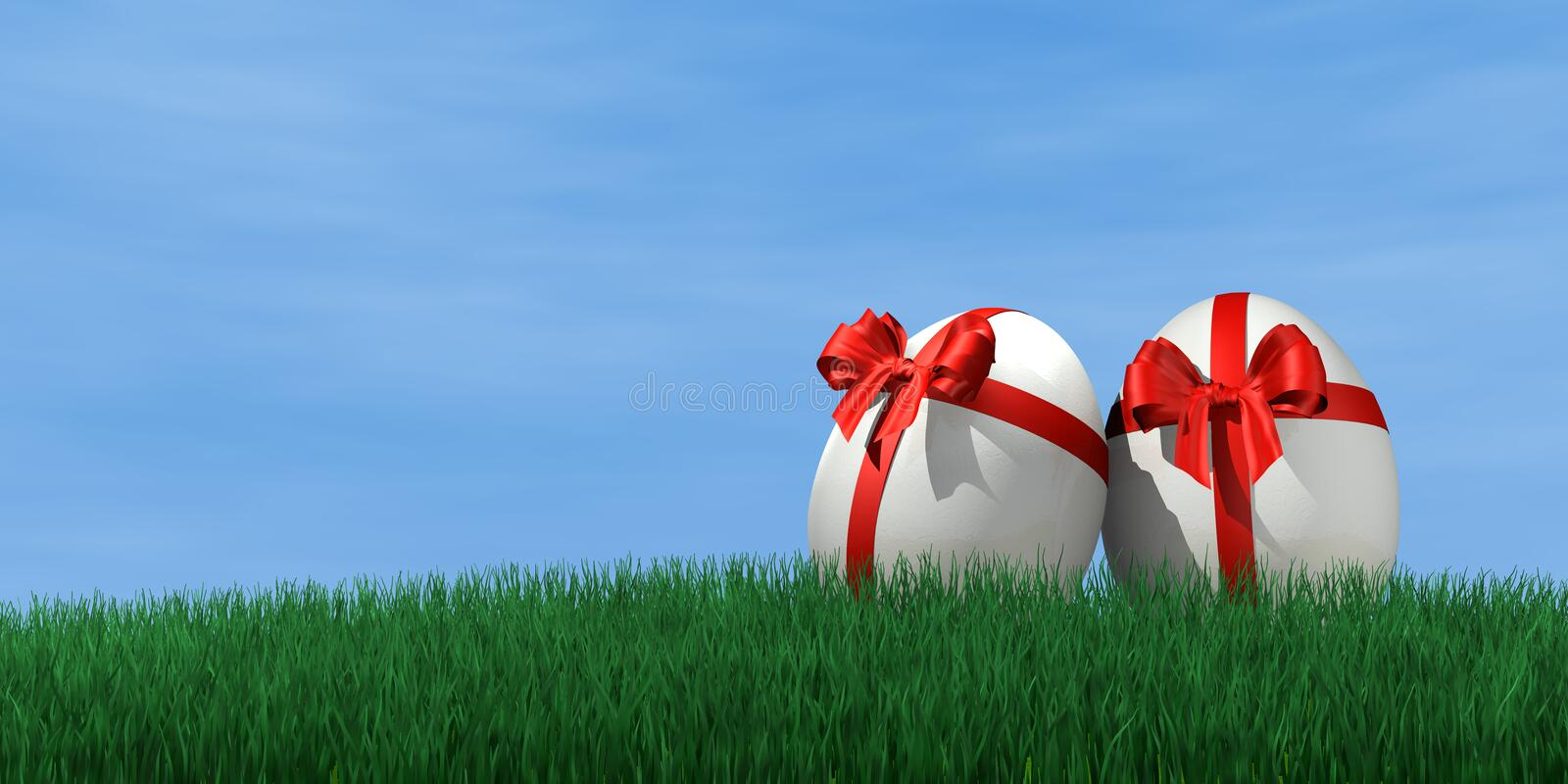 Easter egg. Packed as an gift royalty free stock photography