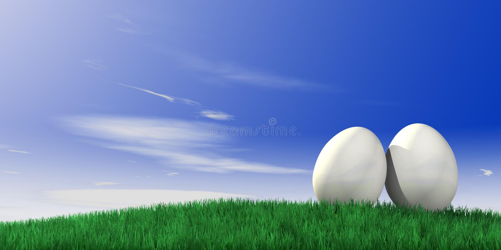 Easter egg. Packed as an gift royalty free stock images