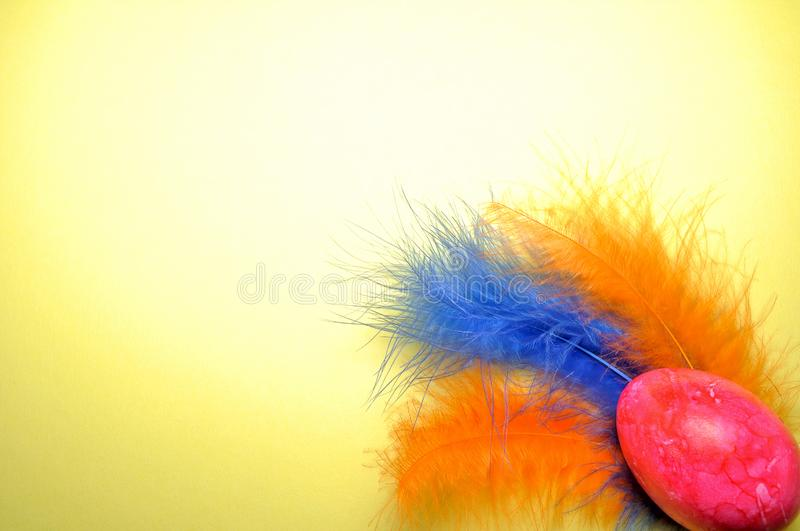Download Easter egg stock photo. Image of feather, orange, blue - 8702548