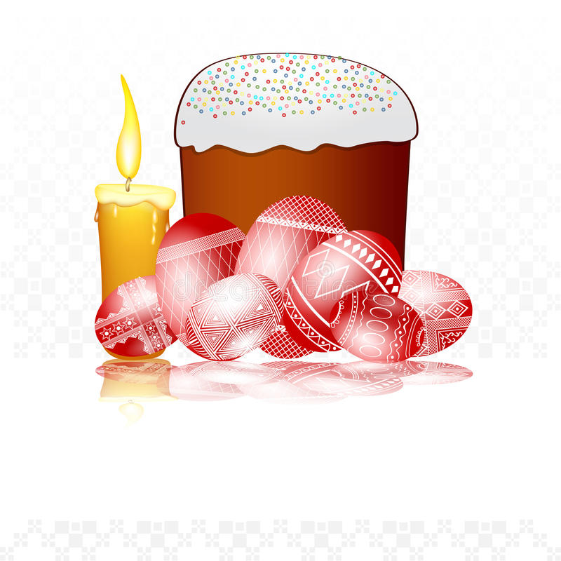Easter egg background cake royalty free illustration